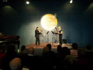 Duo for bassoon and cello (trombone) with Christoph Pimpl at the Lucerne Festival Academy.